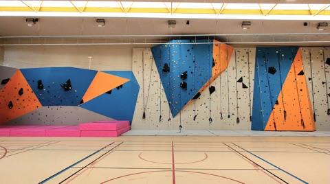 Le nouveau Mur d'escalade du Gymnase de La Croix-Nivert