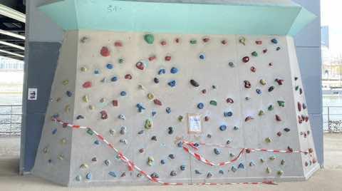Mur d'escalade de ile aux cygnes