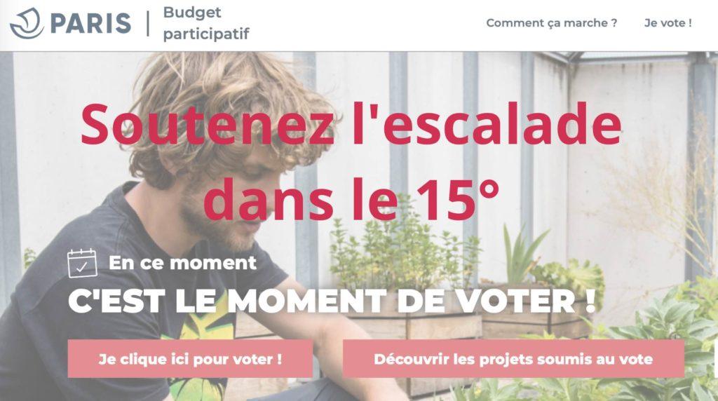 Vote pour le Budget Participatif